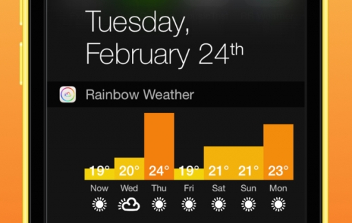 Rainbow Weather Widget