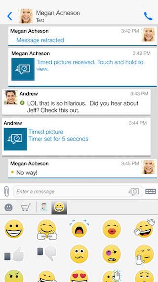 BBM app screenshot