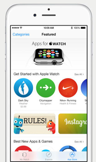iOS 8.2 Apple Watch App Store