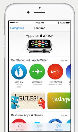 iOS 8.2 Apple Watch App Store
