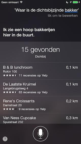 Siri Kaarten dichtstbijzijnde bakker