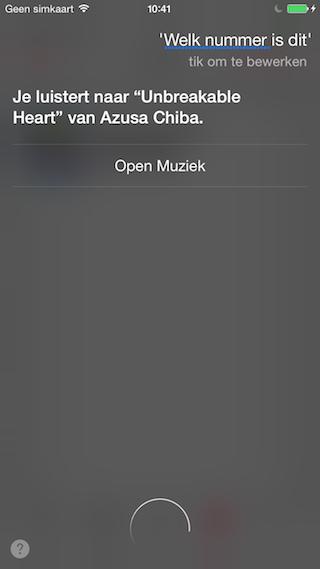 Siri welk nummer