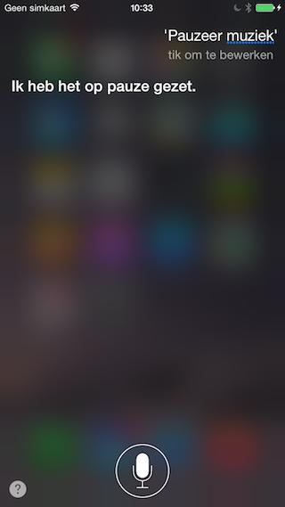 Siri volgend en vorig nummer
