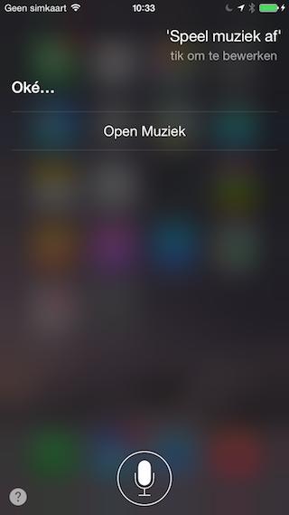 Siri muziek afspelen