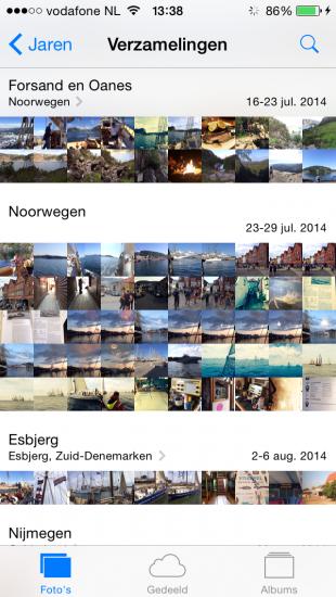 tabblad foto's app