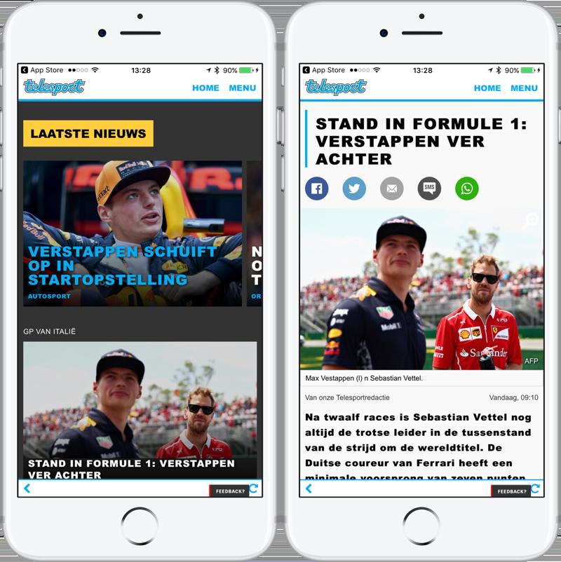 Telesport formule 1 nieuws