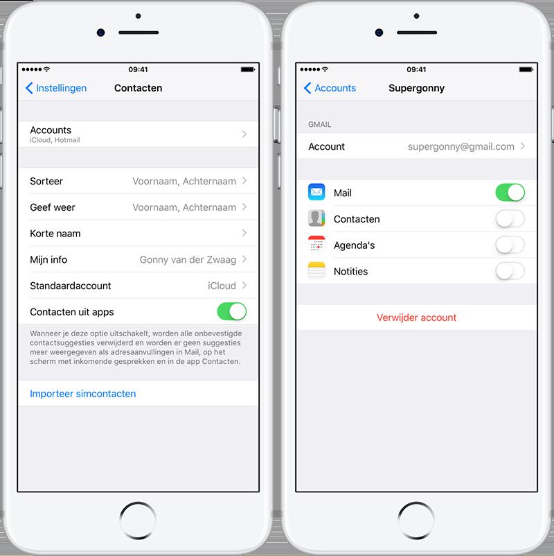 Android contacten overzetten naar iPhone