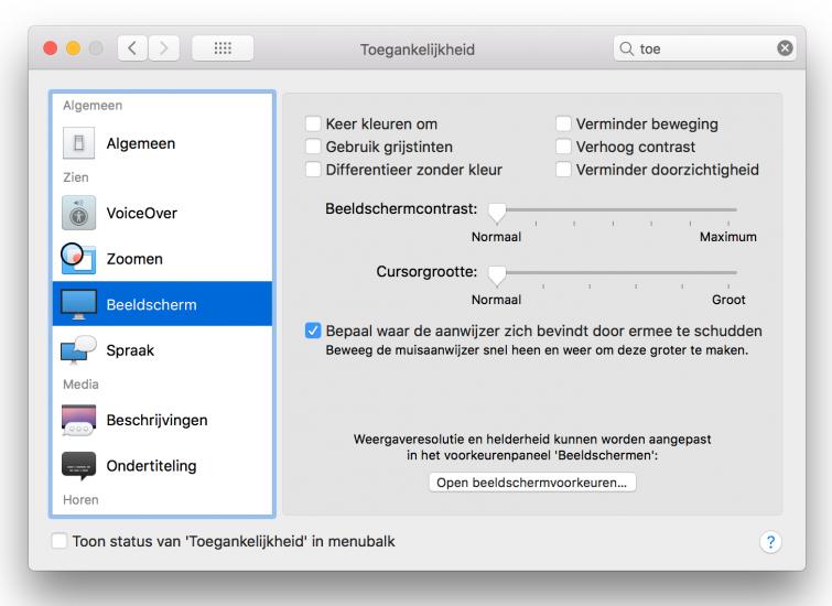 Toegankelijkheid macOS