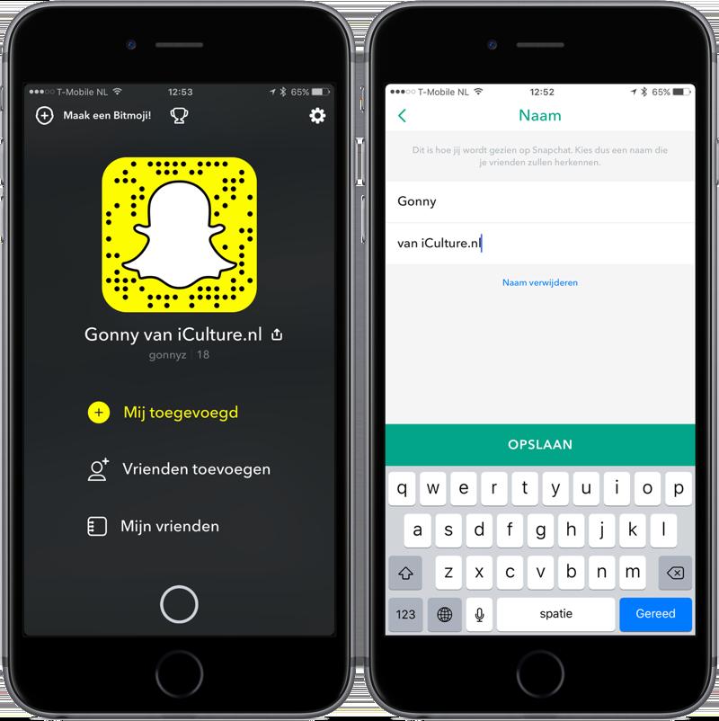 Snapchat gebruikersnaam wijzigen