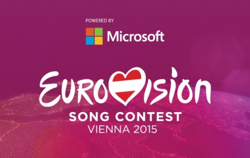 Eurovision powered by Microsoft banner