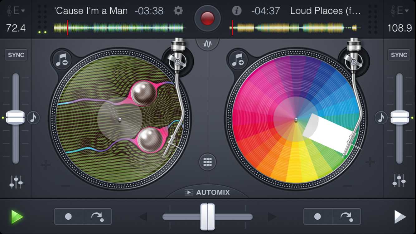 Djay 2 app screenshot