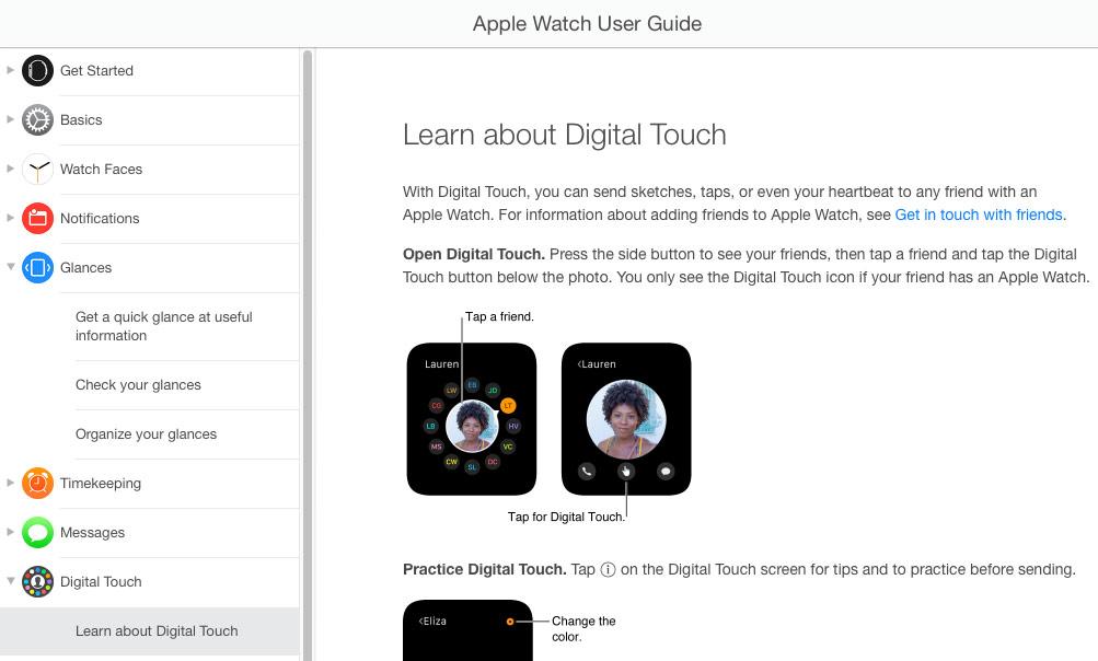 Apple Watch handleiding voorbeeld
