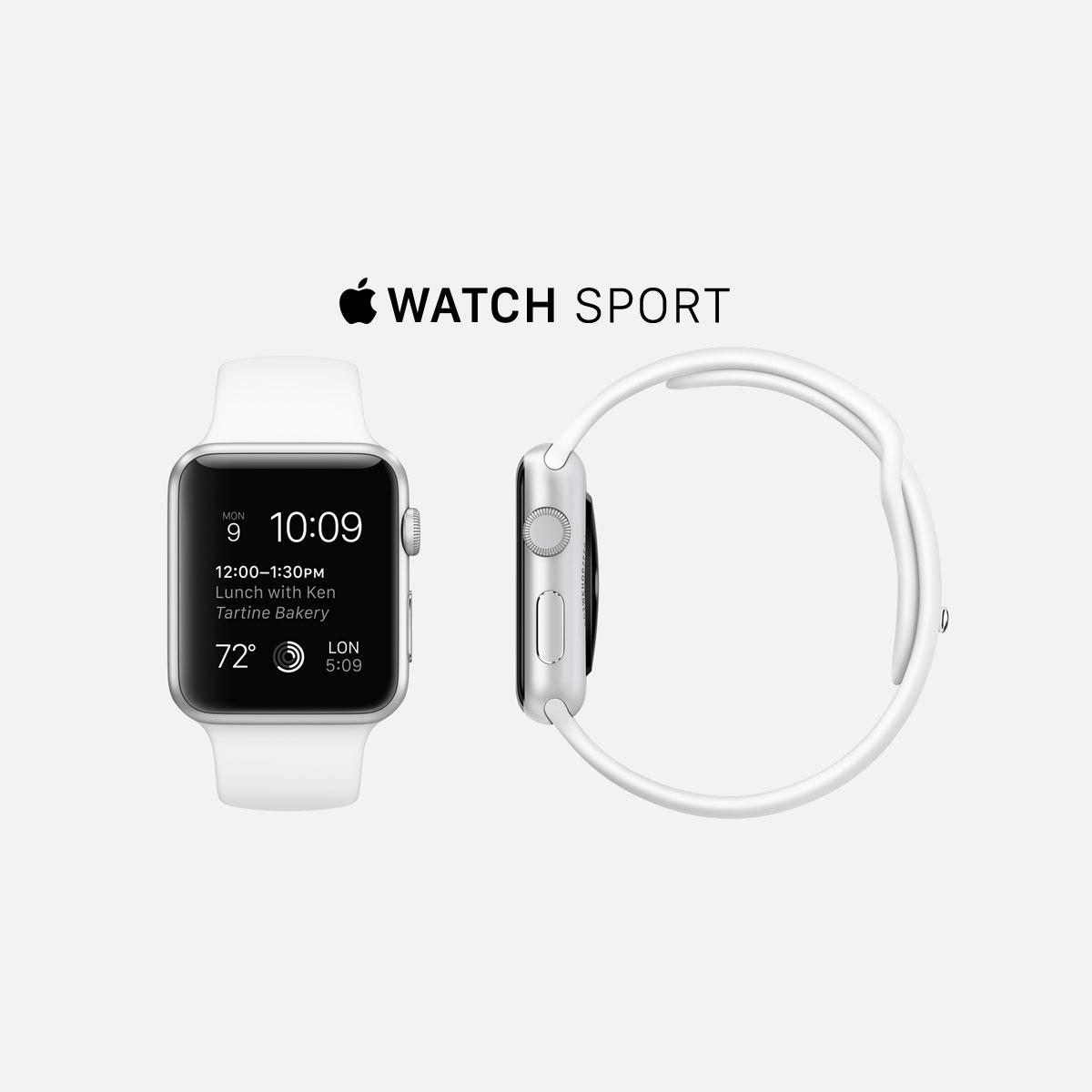 Apple Watch Sport aluminium/wit