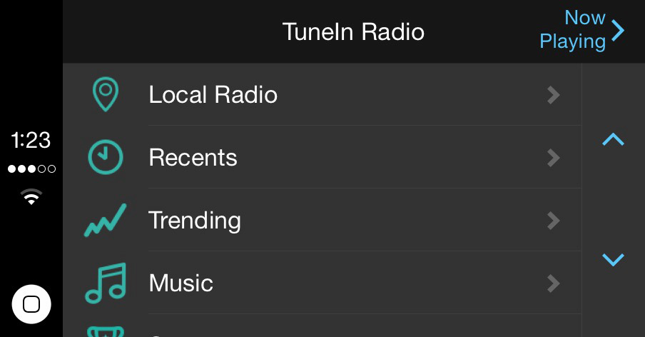 TuneIn CarPlay
