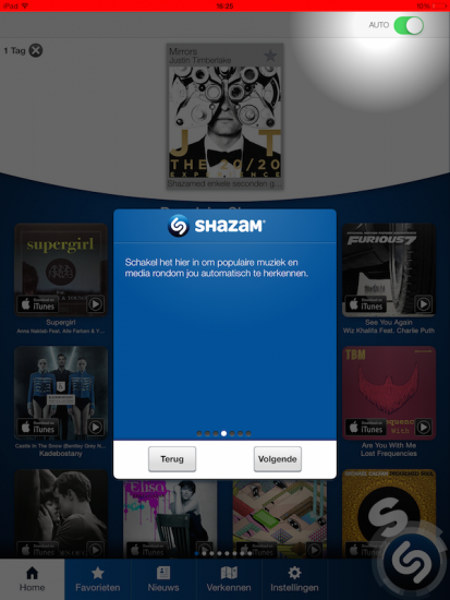 Shazam auto update