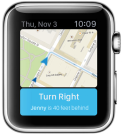 Apple Watch Kaarten app