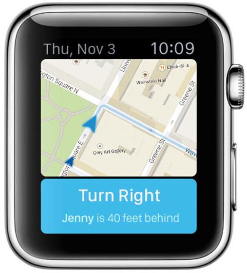 Apple Watch Kaarten app