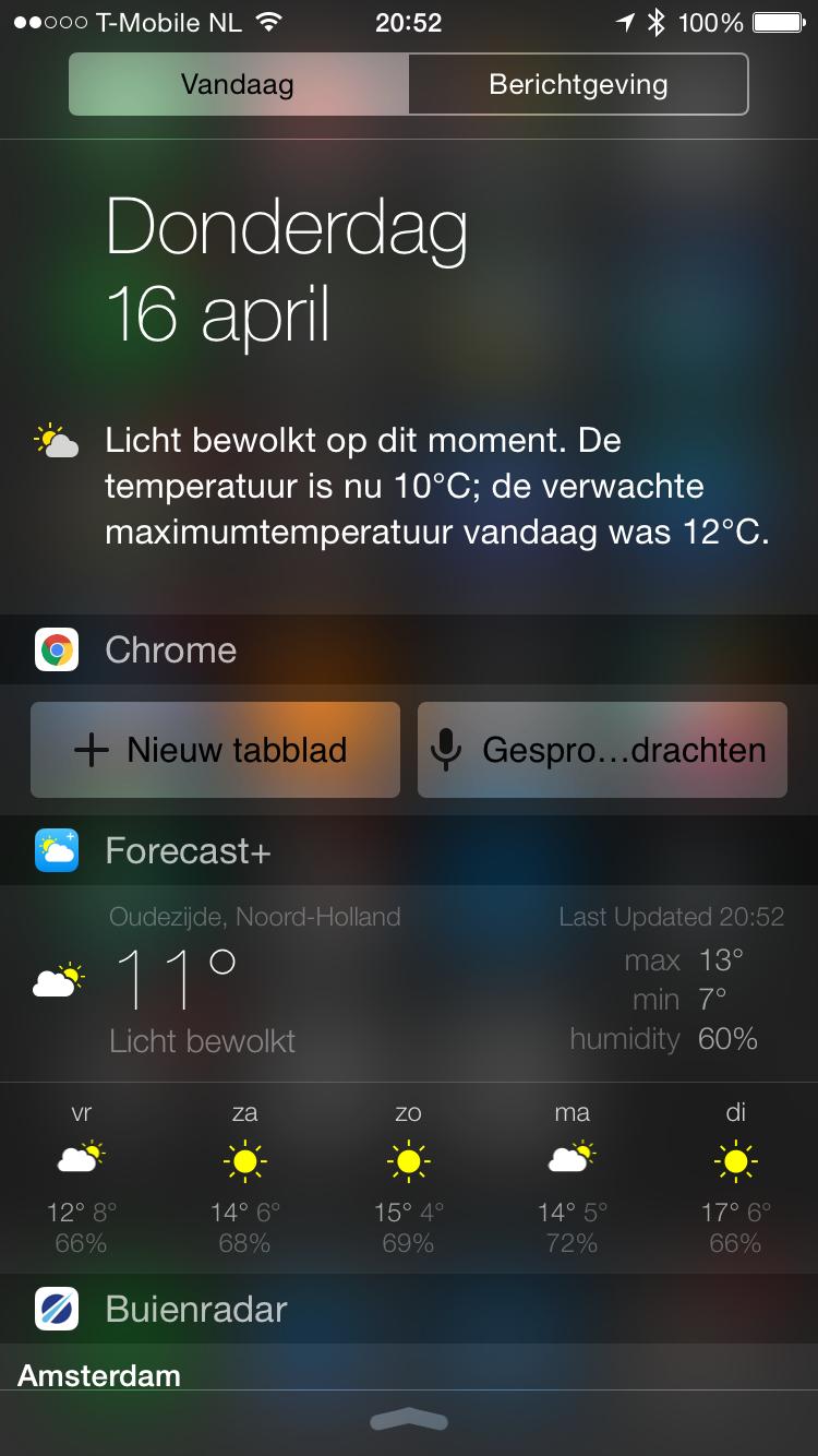 Chrome-vandaag-widget