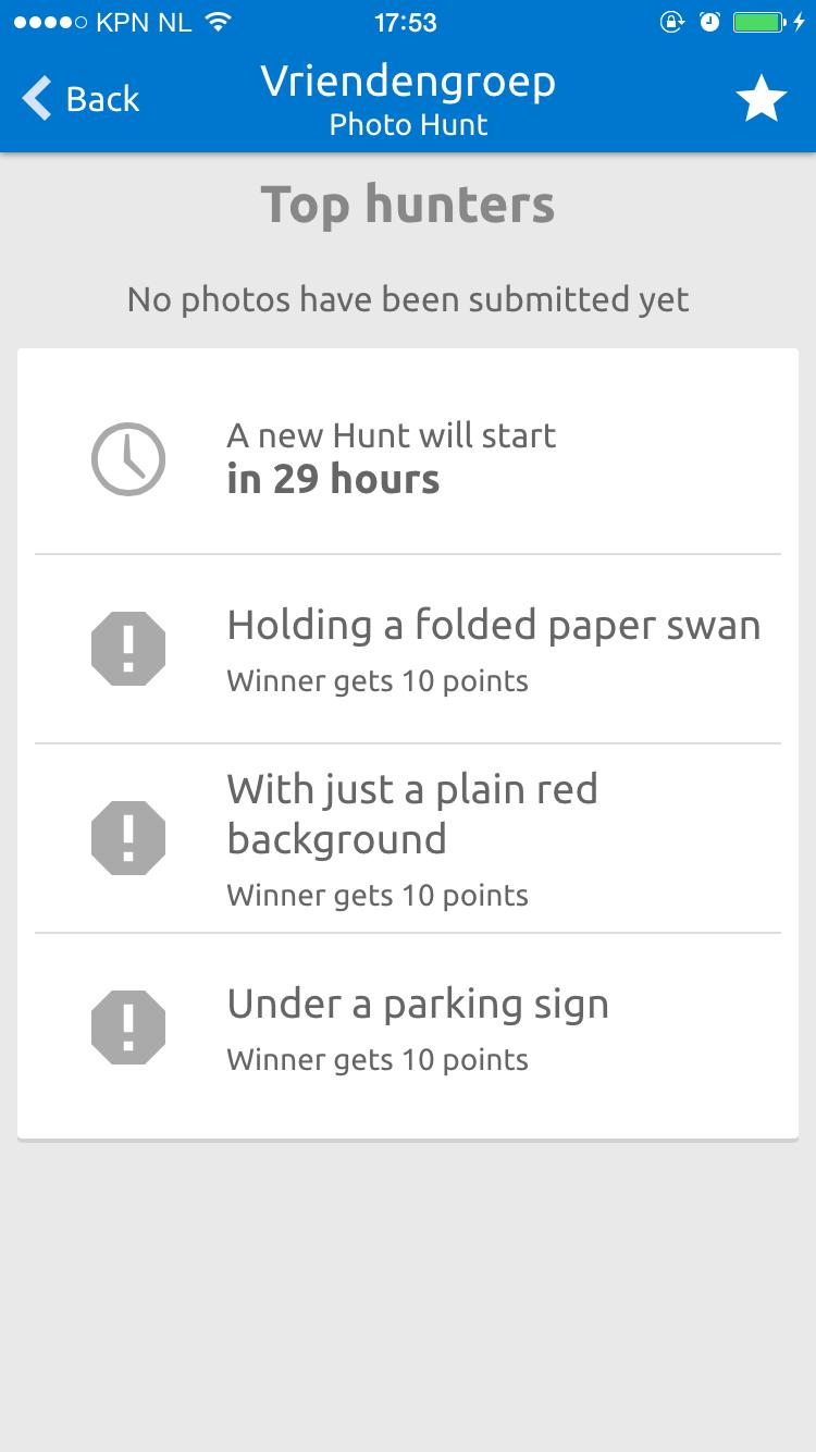 Screenshot Happening app