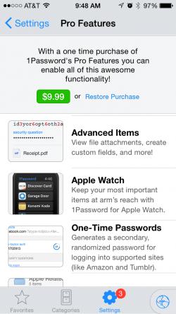 Apple Watch 1Password