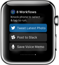 Workflow Apple Watch 2