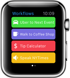 Workflow Apple Watch