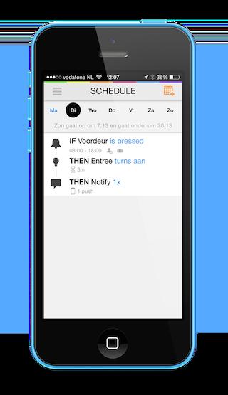 HomeWizard schedule