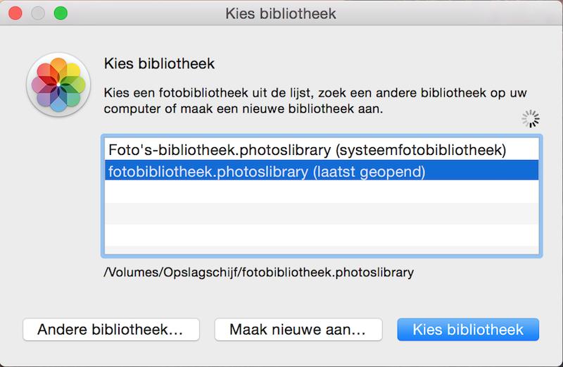 fotobibliotheek wisselen