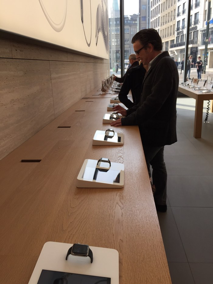 apple watch proberen apple store