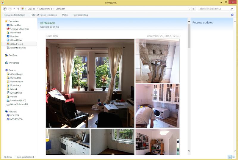 iCloud foto's op Windows