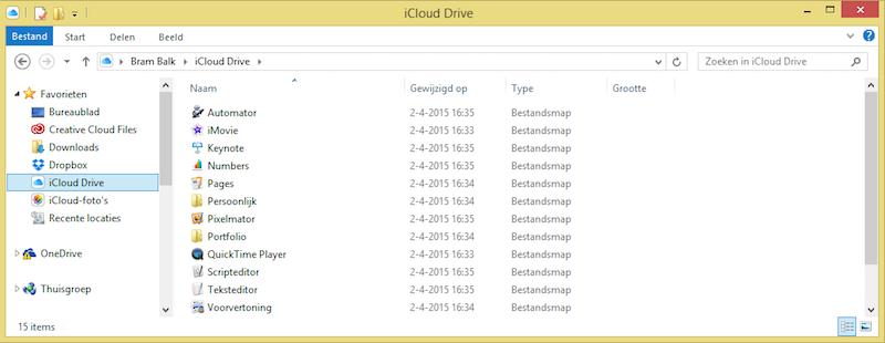 iCloud Drive op Windows