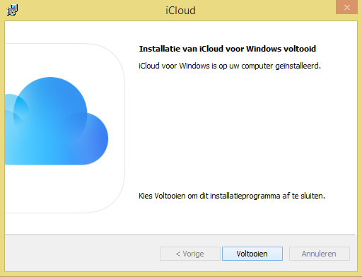 iCloud for Windows installeren