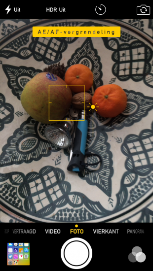 Camera belichting instellen
