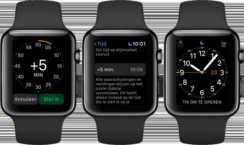 Apple Watch tijd vooruit zetten