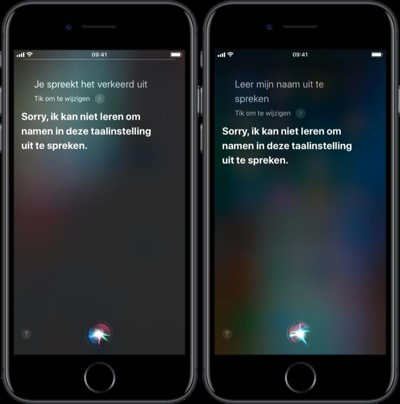 Leer Siri een naam uitspreken.
