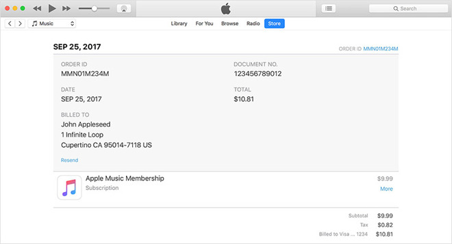 Phishing met iTunes-factuur
