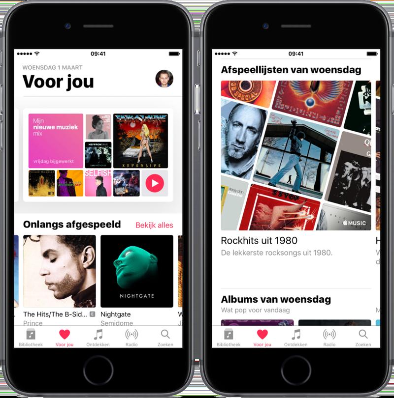 Voor jou in de Muziek-app.