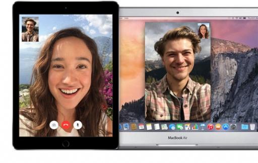 FaceTime op iPad en MacBook