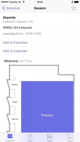 WWDC 2015 keynote app