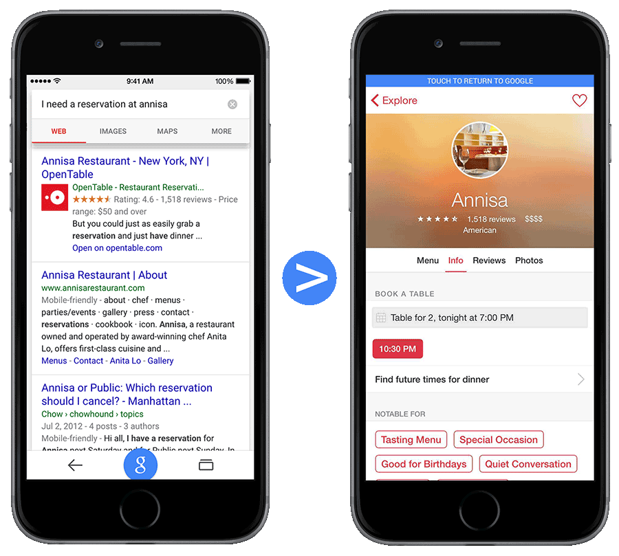 OpenTable-Google-indexeren
