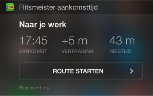 flitsmeister-widget-aankomsttijd