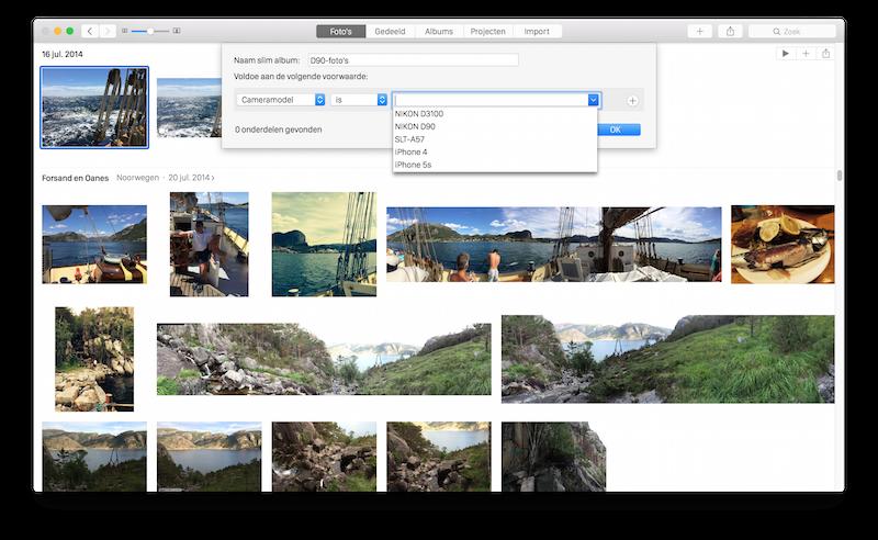 Slim album Foto's voor de Mac