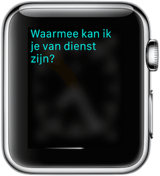 Nederlandse Siri op de Apple Watch