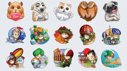 Telegram toetsenbord stickers
