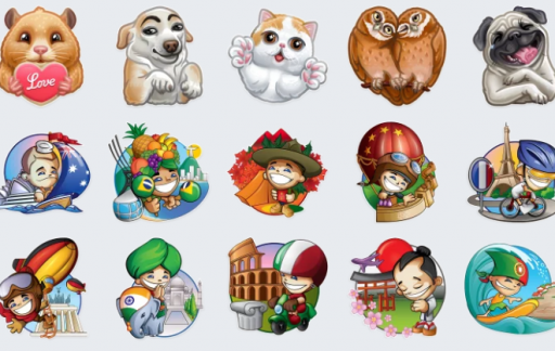 Telegram toetsenbord stickers