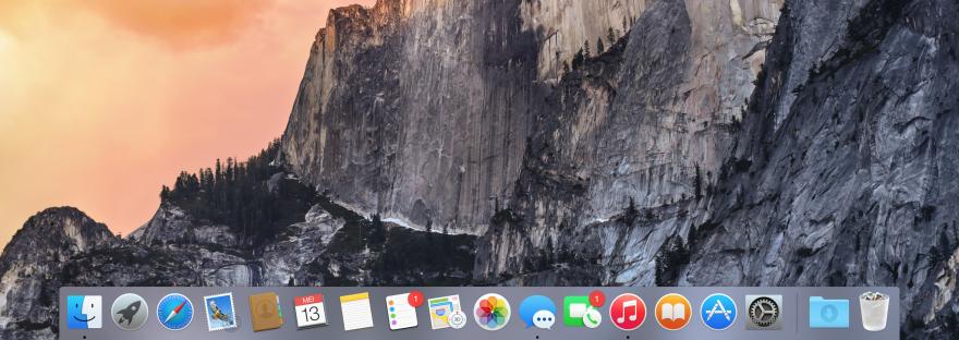 Dock OS X met achtergrond