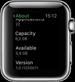 Apple Watch: infoscherm