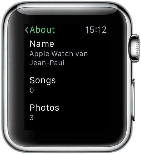 Apple Watch: infoscherm