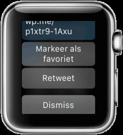 Apple Watch: Twitter notificatie