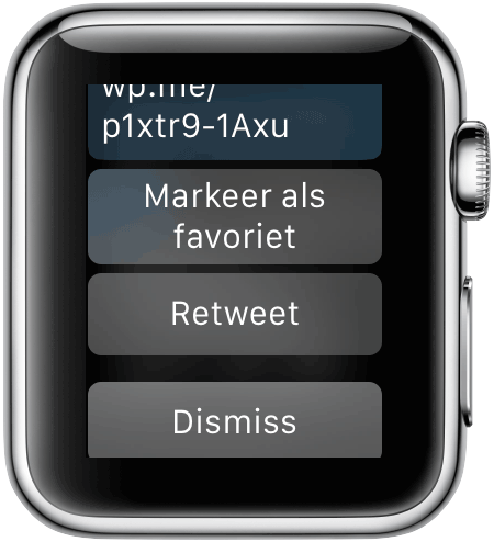 Apple Watch: Twitter notificatie